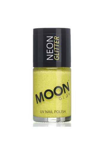 Neon UV Glitter Nagellak - Geel - 14ml