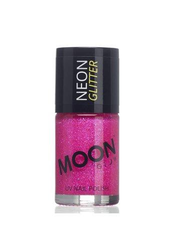 Neon UV Glitter Nagellak - Magenta - 14ml