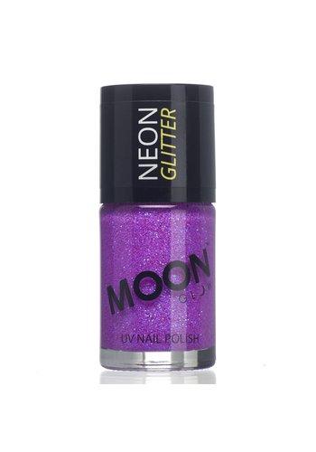 Neon UV Glitter Nagellak - Paars - 14ml
