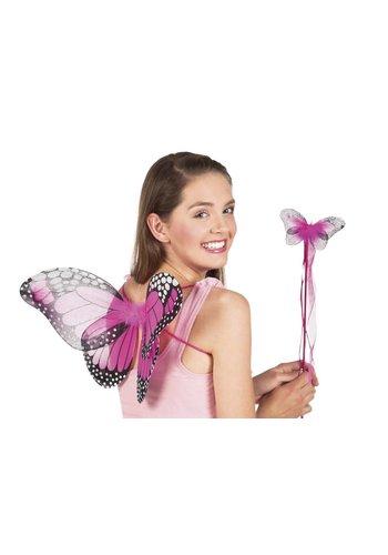 Vlinder Vleugels met Vlinderstaf