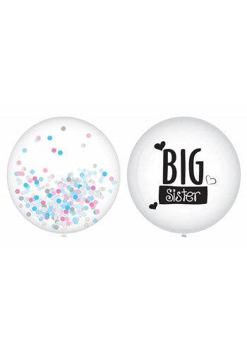 Ballonnen Big Sister - 2 stuks - 40cm