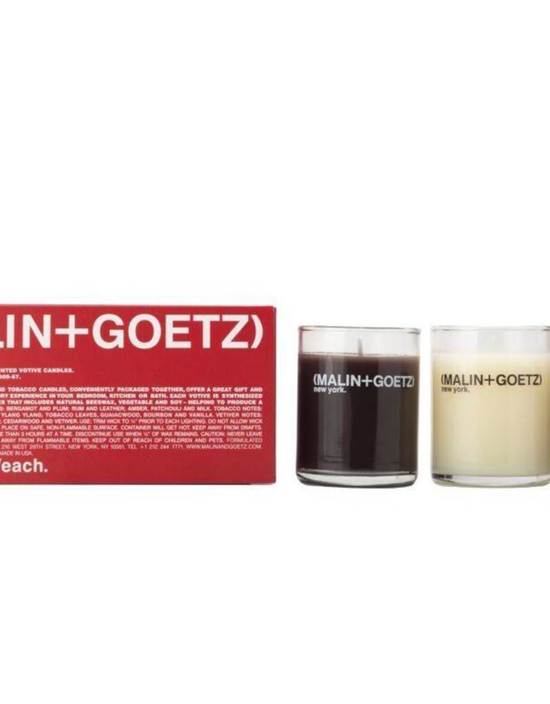 Malin+Goetz mini candle set (dark rum+tobacco+vetiver) 3x-67g