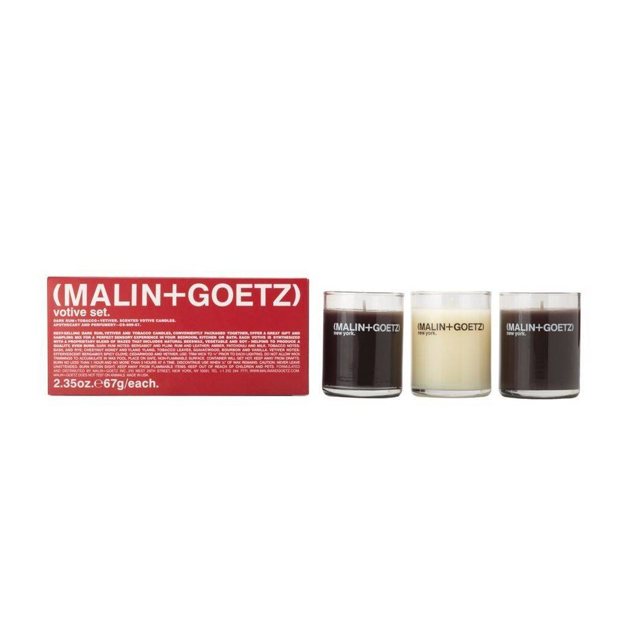 mini candle set (dark rum+tobacco+vetiver) 3x-67g