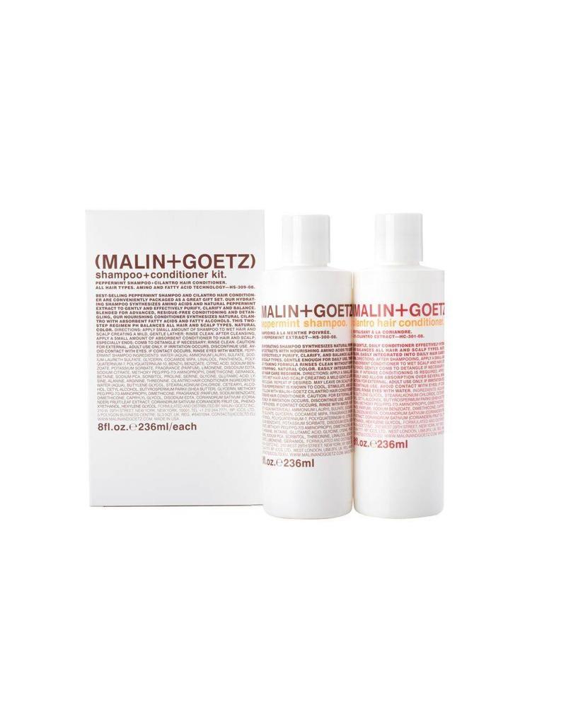 Malin+Goetz Malin + Goetz | Shampoo + Conditioner Kit (Peppermint Shampoo & Cilantro Conditioner)
