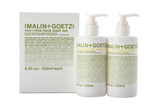 Malin+Goetz rum + lime hand wash set (rum & lime hand wash) 2x 8.5oz-250ml