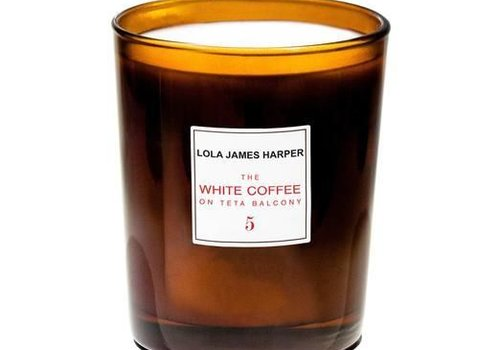Lola James Harper Candle 5 WHITE COFFEE 190 G