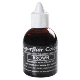 sugarflair Sugarflair Airbrush Colouring -Brown- 60ml