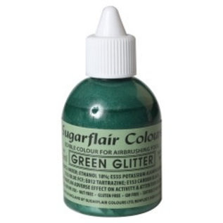 sugarflair Sugarflair Airbrush Colouring -Glitter Green- 60 ml