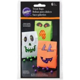 Wilton Wilton Treat Bags Halloween With Sticker Pk/6