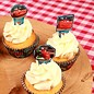 Papieren Cupcake Toppers Cars pk/24