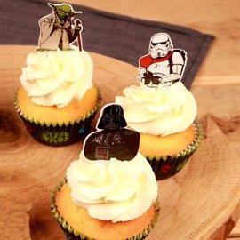 Papieren Cupcake Toppers Star Wars pk/24