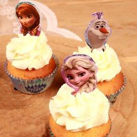 Papieren Cupcake Toppers Frozen pk/24