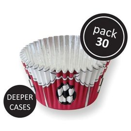 PME PME Folie Baking Cups Rood Voetbal 30 stuks