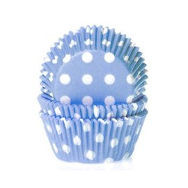 House of Marie HOM Baking cups Stip Blauw- pk/24
