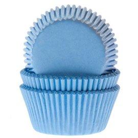 House of Marie HOM Baking cups Licht blauw - pk/24