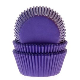 House of Marie HOM Baking cups Paars - pk/24