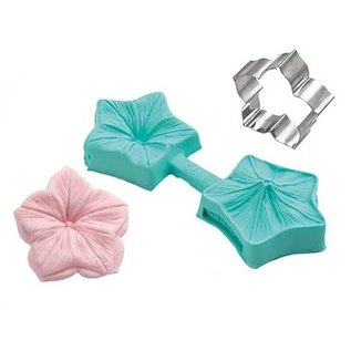 Silikomart Silikomart Sugarflex Veiner -Mini Flower-Petunia