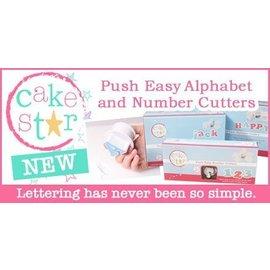 CakeStar Cake Star Push Easy Cutters Lower Case set 26 delig