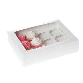 12 CupcakeDoos met venster en inlay