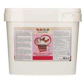 FunCakes FunCakes Mix voor Red Velvet Cake 5kg -Emmer-