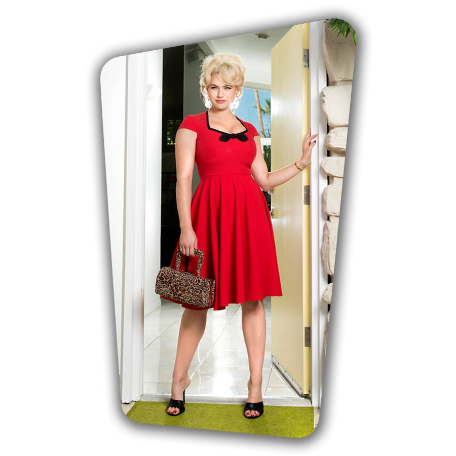 Karen Swing Dress - Red