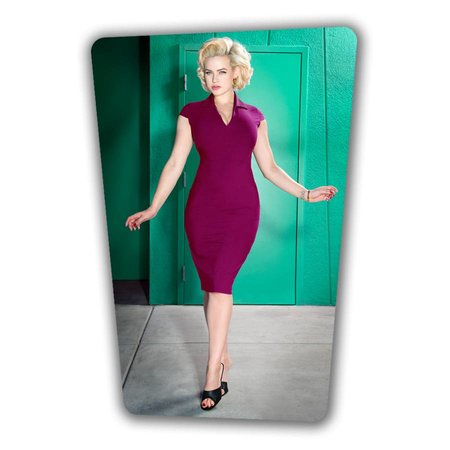 Emma Pencil Dress  - Berry