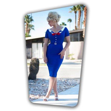 Audrey Pencil Dress - Royal Blue