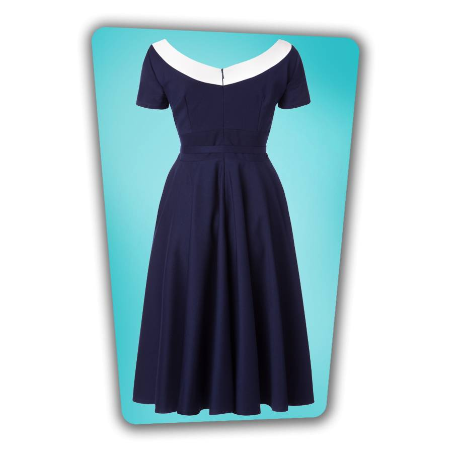 Audrey Swing Dress - Navy