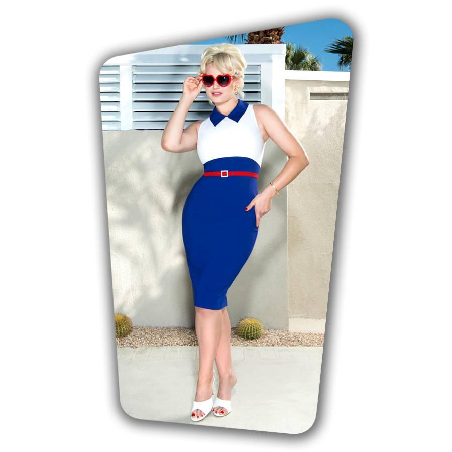 Kelly Pencil Dress -Royal Blue
