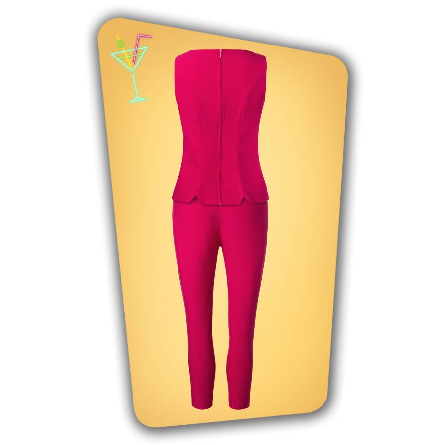 Donna Capri Suit Top - Hot Pink