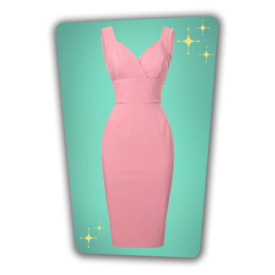 Trinity Pencil Dress - Rose