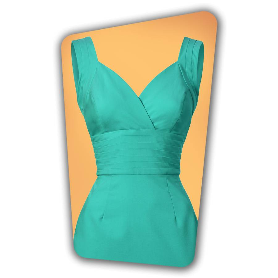 Trinity Pencil Dress - Turquoise