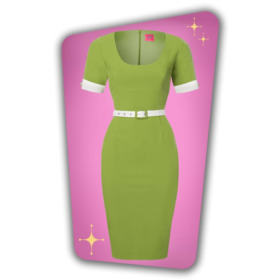 Annie Pencil Dress - Green