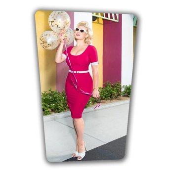 Annie Pencil Dress - Hot Pink
