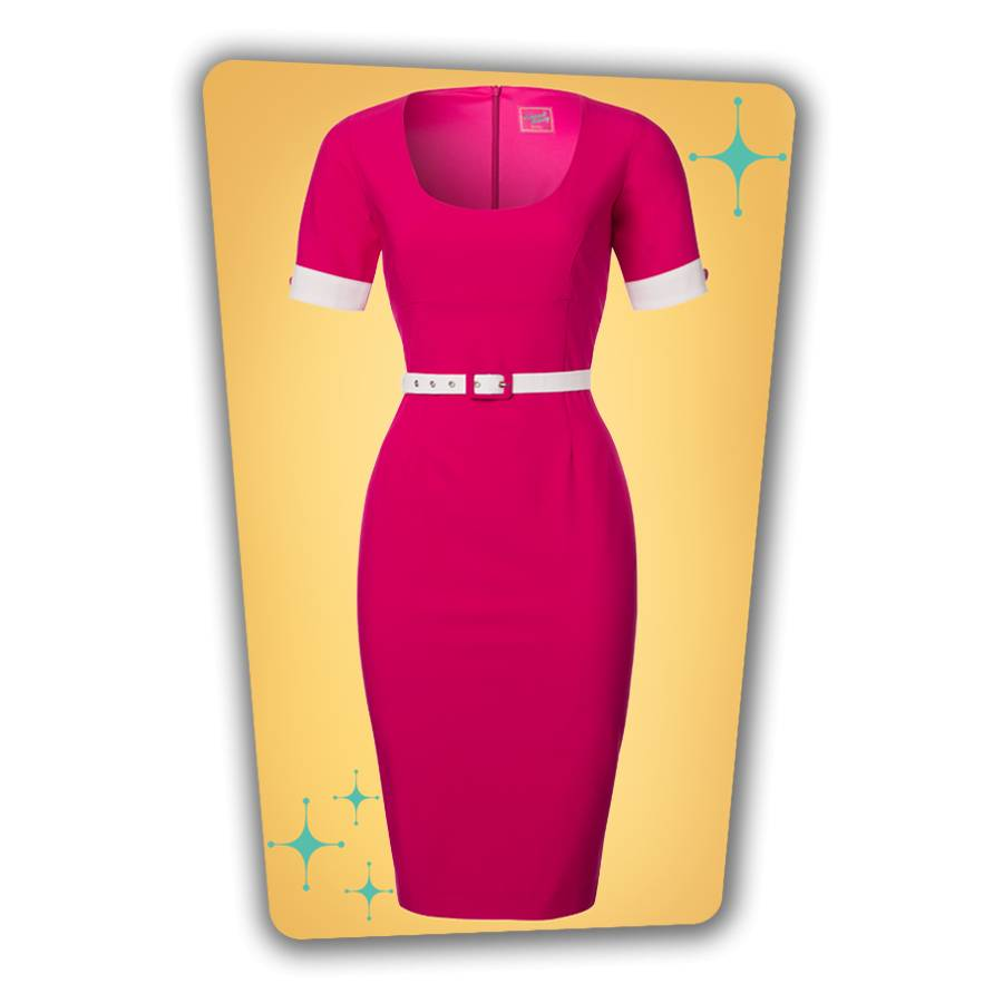 Annie Pencil Dress - Hot Pink