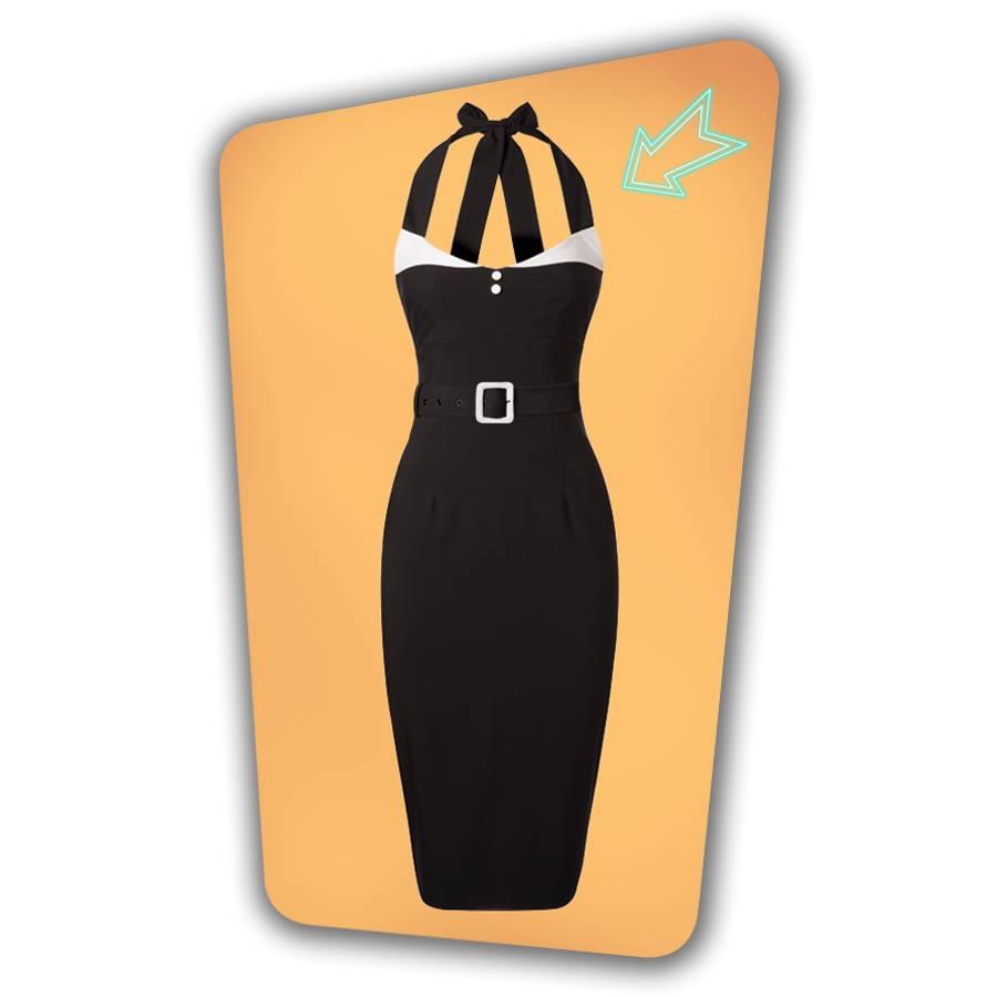 Alice Pencil Dress - Black