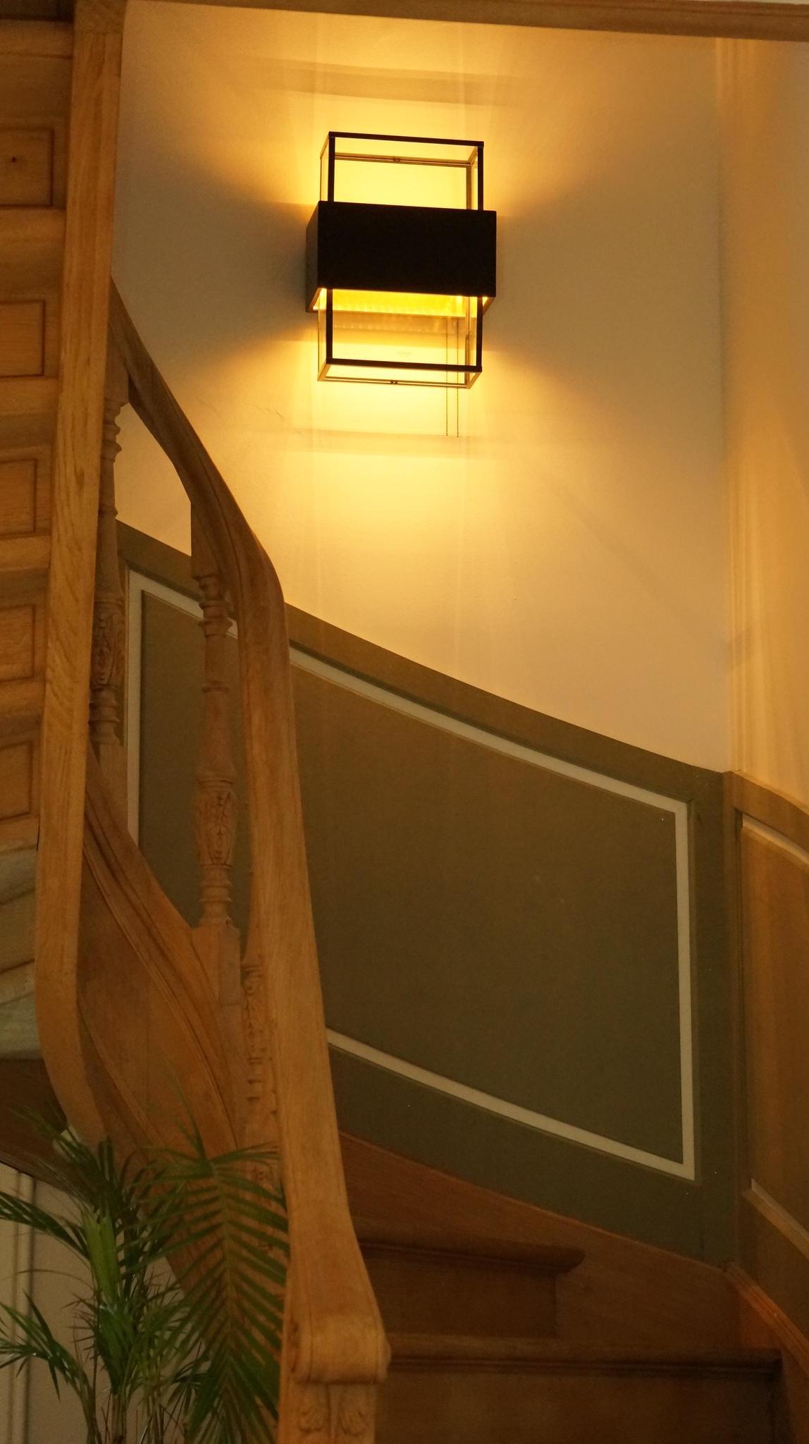Landelijke wandverlichting trap