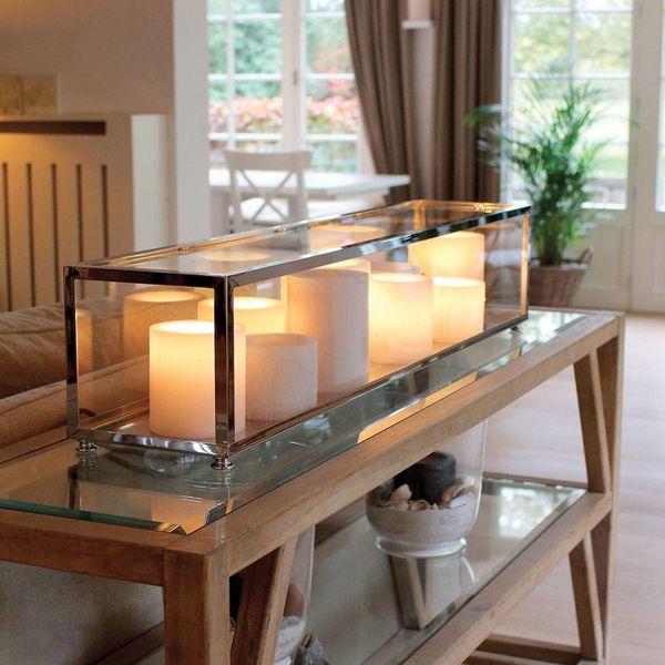 Exclusieve tafellamp kaarsen LED landelijk 100, 125, 150cm