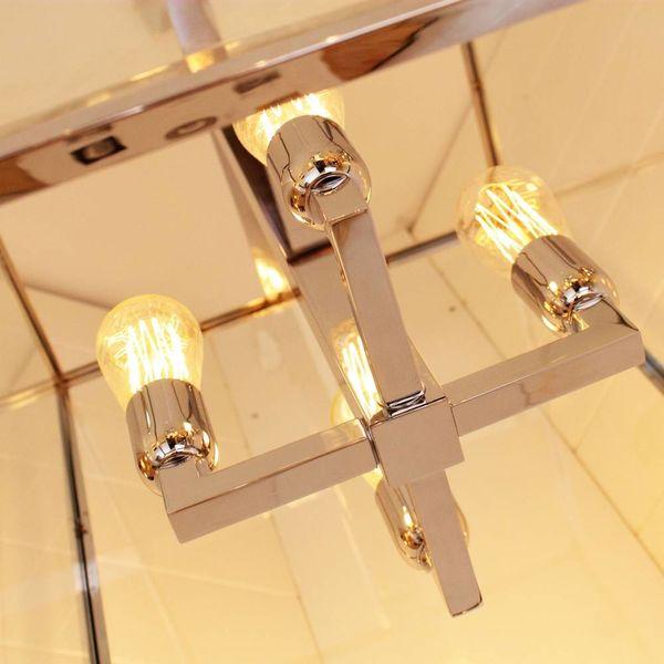 Lamp lantaarn landelijk met glas 4xE27