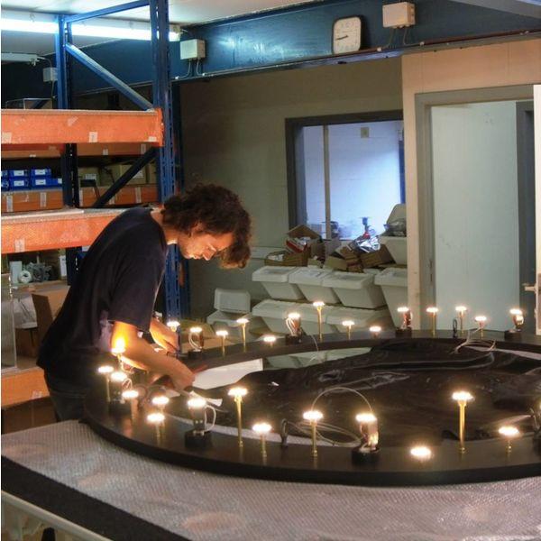 Exclusieve hanglamp kaarsen LED rond met ketting