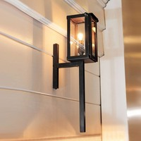 Fakkel wandlamp landelijk brons, chroom, nikkel