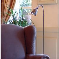 Landelijke vloerlamp brons, chroom, nikkel 120cm