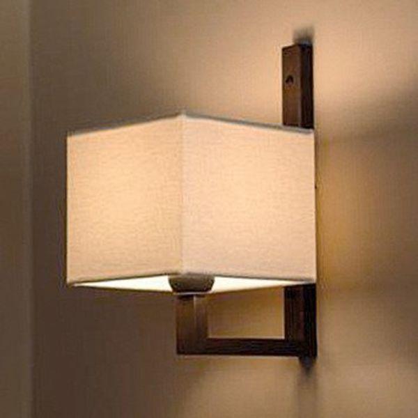 Wandlamp kapje landelijk, brons, nikkel, chroom