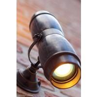 Bronskleurige wandlamp up down landelijk buiten
