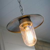 Hanglamp hal met ketting landelijk brons, nikkel, chroom