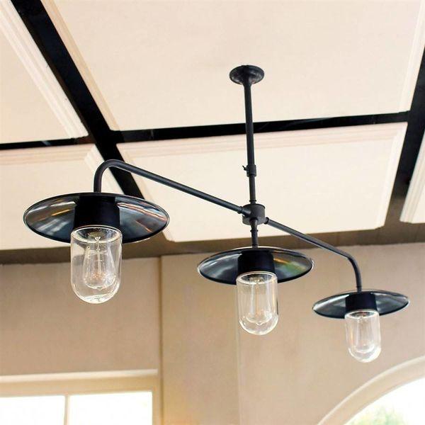 Hanglamp 3 lampen landelijk brons boven eettafel - Feluce