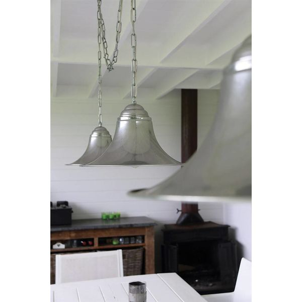 Hanglamp 3 kappen landelijk brons, nikkel, chroom