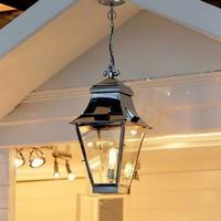 Hanglamp lantaarn landelijk buiten brons, nikkel 1xE27 60cm H