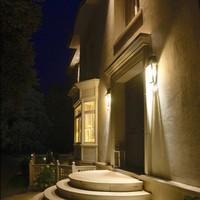 Buitenverlichting wand landelijk brons glas 4 lampen