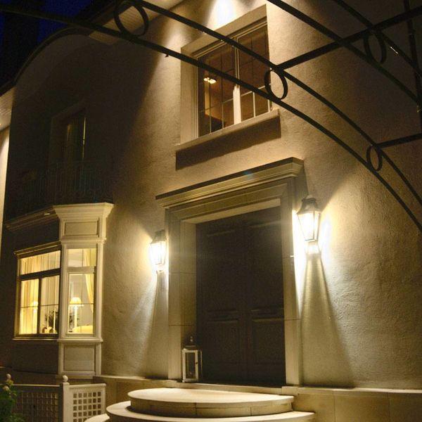 Buitenverlichting wand landelijk brons glas 4 lampen - Feluce